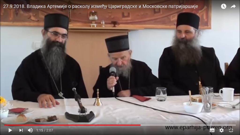 Episcopul schismatic Artemie critică schisma patriarhului eretic Bartolomeu