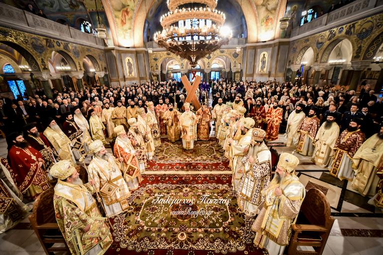 "Slujba Sinodiconului în Duminica Ortodoxiei 2019 la Biserica ""Panaghia Odighitiria"" Pireu"