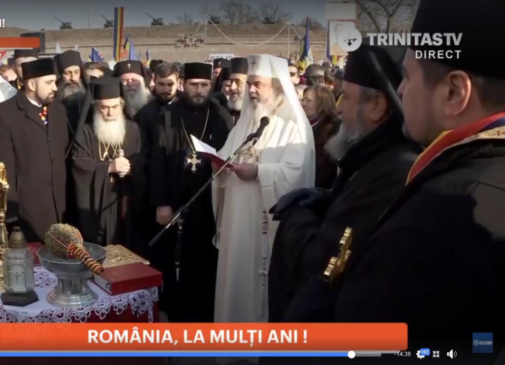 Patriarhul Daniel a binecuvântat în comun cu ereticii greco-catolici Monumentul Unirii de la Alba-Iulia