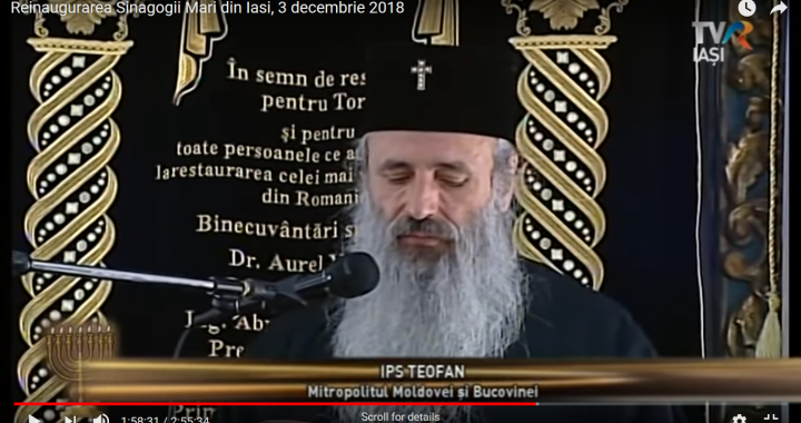 """""""Prințul Bisericii"""", mitropolitul Teofan, încurajat să participe la împlinirea idealului religios al mozaismului"""