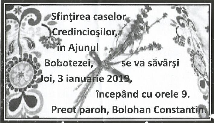 Preotul ecumenist Constantin Bolohan serbează Botezul Domnului pe… 4 ianuarie???