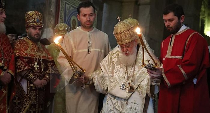 Patriarhul Ilia al II-lea al Georgiei s-a îmbolnăvit Duminică, în timpul Sfintei Liturghii