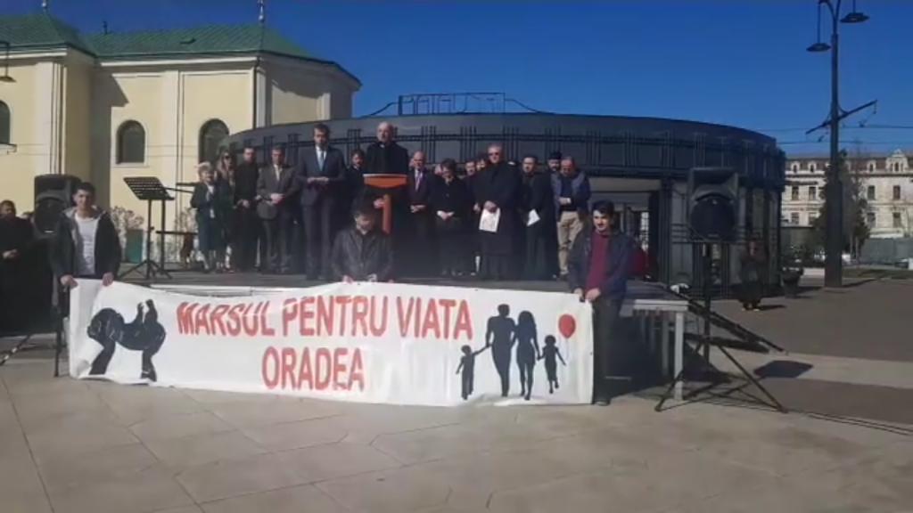 Episcopul bihorean Sofronie participă la o manifestare ecumenistă cu prilejul marșului contra avortului