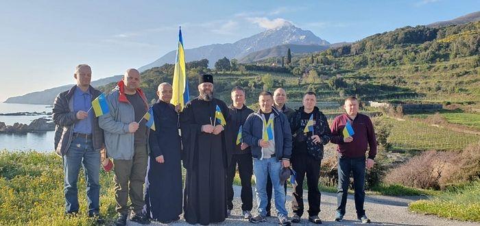 Episcop ucrainean schismatic a slujit Sfânta Liturghie la Mănăstirea Xenofont, din Sfântul Munte Athos