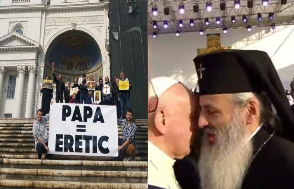 """Mitropolitul """"pelerin"""" Teofan se dezice public, de dragul """"ospitalității"""" papiste, de afirmația dogmatică """"Papa = Eretic"""""""