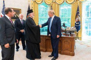 Arhiepiscopul ortodox al Greciei din America s-a întâlnit cu președintele Trump