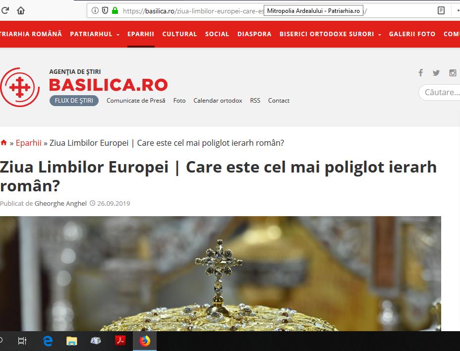 """Patriarhia îl revendică drept """"episcopul cel mai poliglot"""" pe cel pe care uniații îl revendică drept """"episcopul nostru"""""""