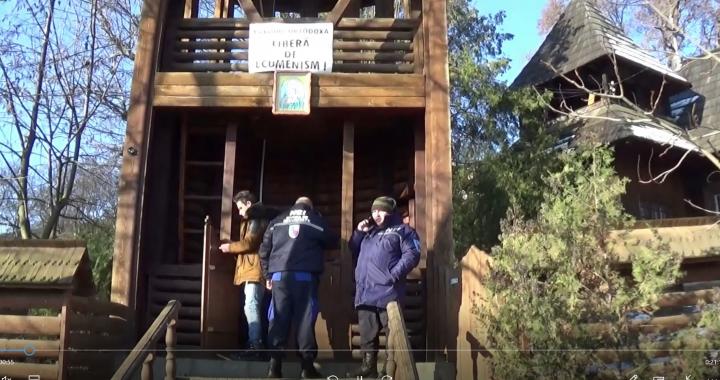 Ereticii ecumeniști interzic mărturisitorilor de la Schit Orășeni până și accesul la clopotul bisericii