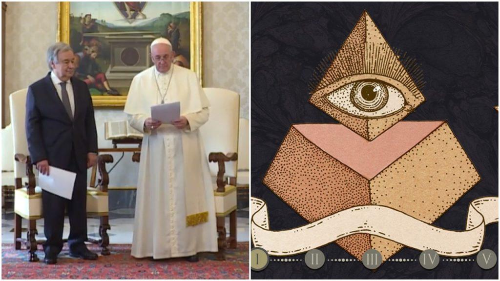 Papa Francisc dezvăluie  Noua Religie Globală la Summit-ul cu Liderul Națiunilor Unite