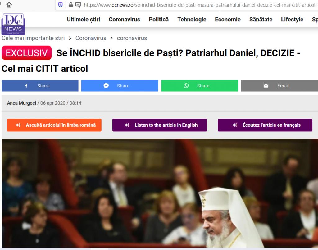 """Presa îl invită pe Patriarhul Daniel să se mai lepede o dată, """"fără echivoc"""", de Hristos și de Învierea Acestuia"""